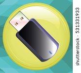 usb flash icon | Shutterstock . vector #531331933