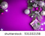 Purple Christmas Background...