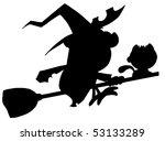 solid black silhouette of a... | Shutterstock .eps vector #53133289