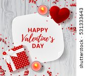 happy valentine's day greeting... | Shutterstock .eps vector #531333643