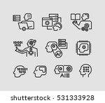 icons related to machine... | Shutterstock .eps vector #531333928