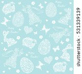 seamless spring pattern with... | Shutterstock .eps vector #531339139
