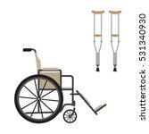 vector illustration wheelchair... | Shutterstock .eps vector #531340930