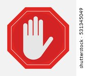 a red octagonal stop sign arm ... | Shutterstock .eps vector #531345049