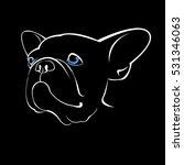 bulldog  dog  animal  french ... | Shutterstock .eps vector #531346063