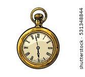 antique pocket watch. . vintage ... | Shutterstock .eps vector #531348844