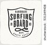 surfing board print in black... | Shutterstock .eps vector #531349408