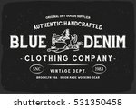 blue denim print in black and... | Shutterstock .eps vector #531350458