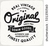 original heritage denim print... | Shutterstock .eps vector #531350560
