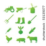 farm icon set | Shutterstock .eps vector #53135077
