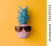 pink pineapple with sunglasses... | Shutterstock . vector #531352213