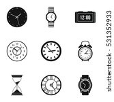 time dimension icons set.... | Shutterstock . vector #531352933