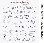 hand drawn arrows.doodle vector ... | Shutterstock .eps vector #531353800