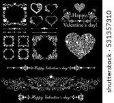 happy valentine day decor.... | Shutterstock .eps vector #531357310