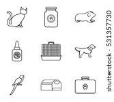 veterinary icons set. outline... | Shutterstock . vector #531357730