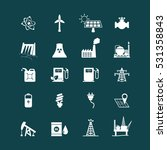 energy resources icon set .... | Shutterstock .eps vector #531358843