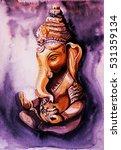 hindu lord ganesha. meditation... | Shutterstock . vector #531359134