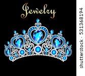 illustration female crown ... | Shutterstock .eps vector #531368194