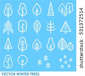 unique vector concept with snow ... | Shutterstock .eps vector #531372514
