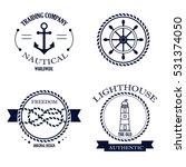 set of vintage retro nautical... | Shutterstock .eps vector #531374050