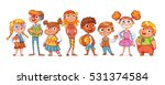 cute variety of children... | Shutterstock .eps vector #531374584