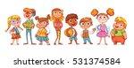 cute variety of children... | Shutterstock .eps vector #531374584