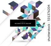 geometric background template... | Shutterstock .eps vector #531376204