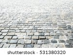 Cobbled Stone Road Background...