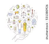 illustration of the human... | Shutterstock .eps vector #531380926