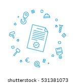 construction plan | Shutterstock .eps vector #531381073
