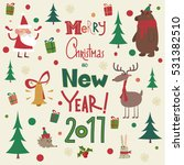merry christmas card | Shutterstock .eps vector #531382510