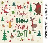 merry christmas card | Shutterstock .eps vector #531382510