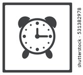 alarm clock icon  flat design...