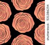 vector seamless pattern on a... | Shutterstock .eps vector #531386254