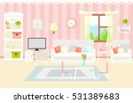 living room interior with... | Shutterstock .eps vector #531389683