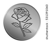 rose sketch with coin design.... | Shutterstock .eps vector #531391060
