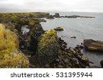 Atlantic Ocean And Black Rock...