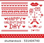 pattern pixel. set of knitting... | Shutterstock .eps vector #531404740