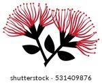 pohutukawa flowers | Shutterstock .eps vector #531409876
