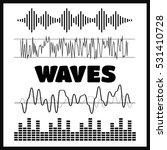 vector sound waveforms. sound... | Shutterstock .eps vector #531410728