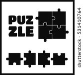 parts of puzzles on white...