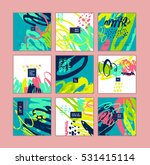 set of artistic creative cards... | Shutterstock .eps vector #531415114