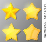 set of gold stars. collection...