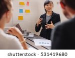 businesswoman standing by a... | Shutterstock . vector #531419680