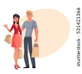 couple of young man and woman... | Shutterstock .eps vector #531421366