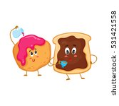 cute and funny toast with... | Shutterstock .eps vector #531421558