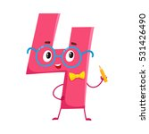 cute and funny colorful 4... | Shutterstock .eps vector #531426490