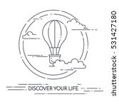 hot air balloon in the sky with ... | Shutterstock .eps vector #531427180