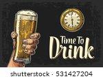 male hand holding glass beer...   Shutterstock .eps vector #531427204