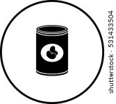 canned beans symbol | Shutterstock .eps vector #531433504